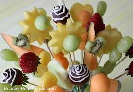 learn how to make your own fruit bouquet