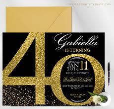 40th Birthday Invitations Milestone Birthday Invitation 20th To 90th Birthday Invitation Faux Glitter Gold