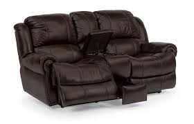 impressive dark black leather recliner loveseat with console and fabulous home furnitures
