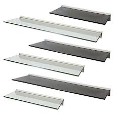 Floating Glass Shelves Uk Best Hartleys Floating Glass Wall Display Shelf Choice Of Size Colour