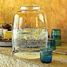 glass beverage dispenser with spigot glass beverage dispenser 5 1 2 gal glass glass drink dispenser
