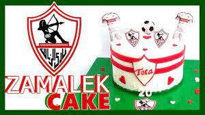 Zamalek Cake ⚽️ || تورتة الزمالك - YouTube