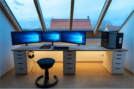l shaped desk gaming setup.  Desk 50 Best Of L Desk Gaming Setup Graphics And Shaped