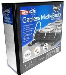 4inch binder find it gapless mega media binder 4 inch spine 224 cd capacity no