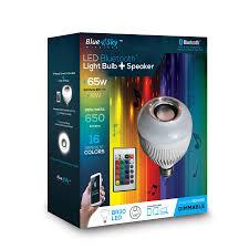 Led Bluetooth Light Bulb Speaker Blue Sky Blue Sky Wireless 8 Watt 65w Equivalent 3 000k Medium Base
