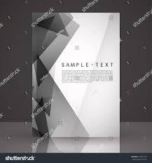 Black And White Flyer Template Elegant Black White Flyer Template Eps Stock Vector 24 24 4