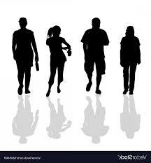 People Walking Black Silhouette Vector Geekchicpro