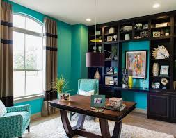 turquoise office decor. Turquoise Home Office Study. Perfect For The Beach House. House Of Turquoise: Michelle Thomas Design Decor
