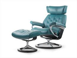 Stressless Skyline Leather Recliner Chair with Ottoman Medium
