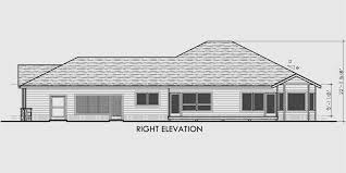 house side elevation view for 10079 one level house plans side view house plans