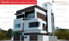 Front Elevation Designs For Duplex Houses In India 30x40 House Plans In Bangalore For G 1 G 2 G 3 G 4 Floors