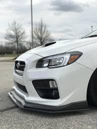 2018 subaru wrx white. interesting subaru 20152018 subaru wrxsti carbon fiber lip splitter  intended 2018 subaru wrx white