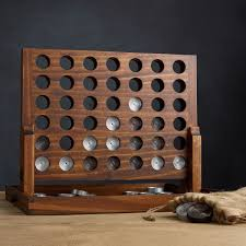 Wooden Connect 4 Game Wood and Aluminum Connect Four Game The Green Head 2