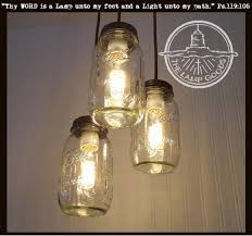 jar lighting fixtures. Mason Jar 3-Light CHANDELIER Trio New Quarts Lighting Fixtures W