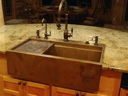 copper a sink build a top mount copper a front sink this would be