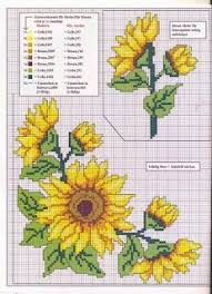Sunflowers Cross Stitch Pattern And Color Chart Cross