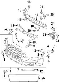 parts com® audi front bumper and grille bumper and components 2007 audi s6 base v10 5 2 liter gas bumper components