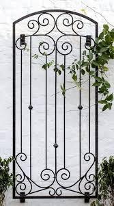 large garden trellis wrought iron metal