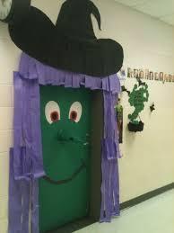 Halloween Witch Door Decorations Classroom Door Decoration For Halloween A  Green Witch Stuff