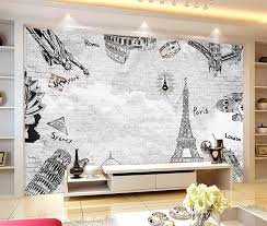 Nostalgic World Map Vintage Wallpapers Travel Map European Style Building Map Sofa Office Wall Murals Buy World Map Vintage Wallpapers Travel Map