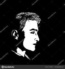 若い男の横顔 ストックベクター Likka 156183592