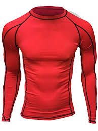 red compression shirt