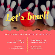 Bowling Invitation Inspiration Customize 44 Bowling Invitation Templates Online Canva