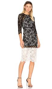 whitney black white. Whitney Dress Black White