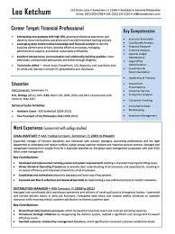 Resume Examples Cv Sample Resume Templates Entry Level Finance