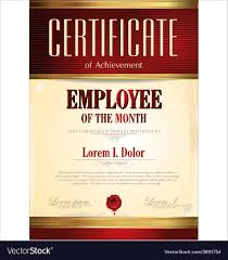 Employee Of The Year Certificate Template Free Certificate Template Employee Of The Month