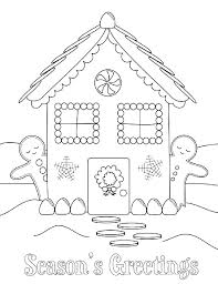 Christmas House Coloring Pages Gingerbread House Color Sheet Free