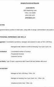What Is A Functional Resume New Functional Resume Builder Formatted Templates Example