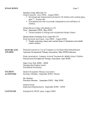 Therapist Resume Template Resume Examples For Therapist Therapist Resume