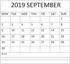 Week Number Calendar September 2019 Calendar Week Number Free Latest Calendar