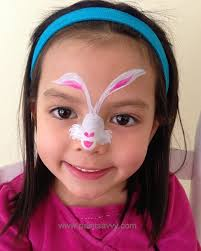 easter bunny face painting tutorial
