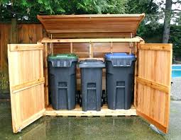 garbage can storage trash bin storage shed garbage can shed outdoor living today trash can x