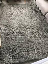 Shaggy grey Large rug Dunelm Mill