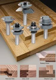 mlcs 5 piece shaker cabinetmaker router bit sets