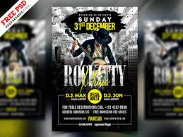 Free Psd Rock Music Party Flyer Psd By Psd Freebies On