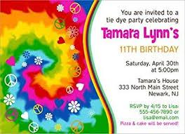 Amazon Com Tie Dye Birthday Party Invitations Health