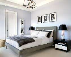 Inspiration for a transitional bedroom remodel in Los Angeles with purple  walls