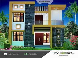 contemporary style 1674 sqft economic house plan design indian