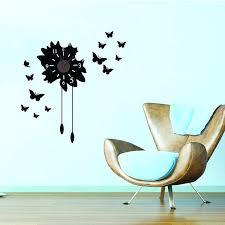 wall clock decals erflies with bell wall clock sticker home decor wall decals clock wall art
