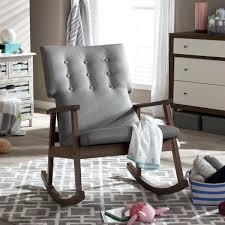 mid century modern rocking chair uk. rocking chair upholstered studio mid century modern grey fabric button tufted uk h