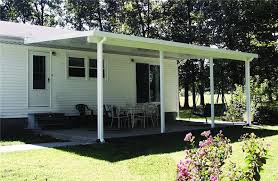 teton patio covers provide an up scale look with a smooth flat roof large support beam and optional side plates for wood look posts