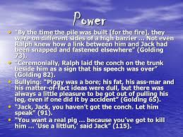 lord of the flies motifs loss of innocence ldquo kill the pig slit 4 power ldquo