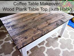 Old Coffee Table Makeovers Popular Wood Plank Coffee Table On Round And Rustic Contemporary T
