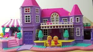 Amazing Bluebird Toys Polly Pocket Pink American Dolls House - Dolls house interior