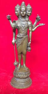 พระตรีมูรติ สร้างจากเนื้อทองเหลือง พระตรีมูรติ ขนาด 5 นิ้ว รหัส 231 - บูชาพระพุทธชินราช  : Inspired by LnwShop.com
