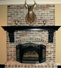 mantel shelf ideas for brick fireplace delectable image of home interior decoration using wrap around fireplace